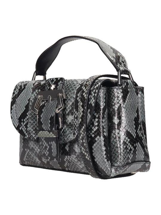 Paula Cademartori Amelie Small Shoulder Bag In Grey Leather