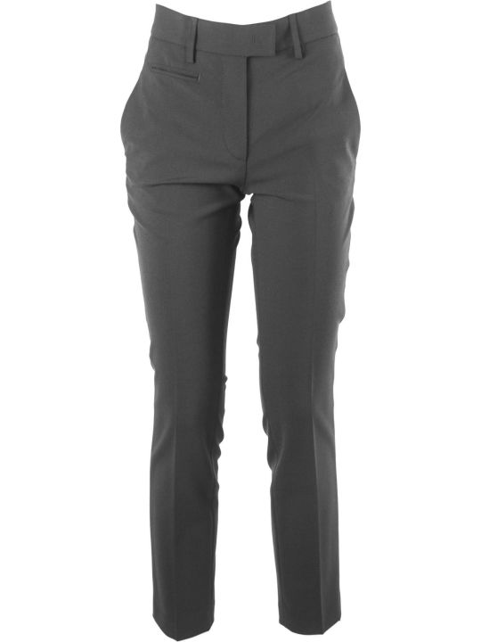 Dondup Black Wool Blend Trousers