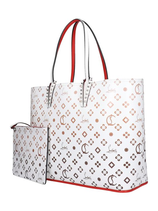 Christian Louboutin Cabata Tote In White Leather
