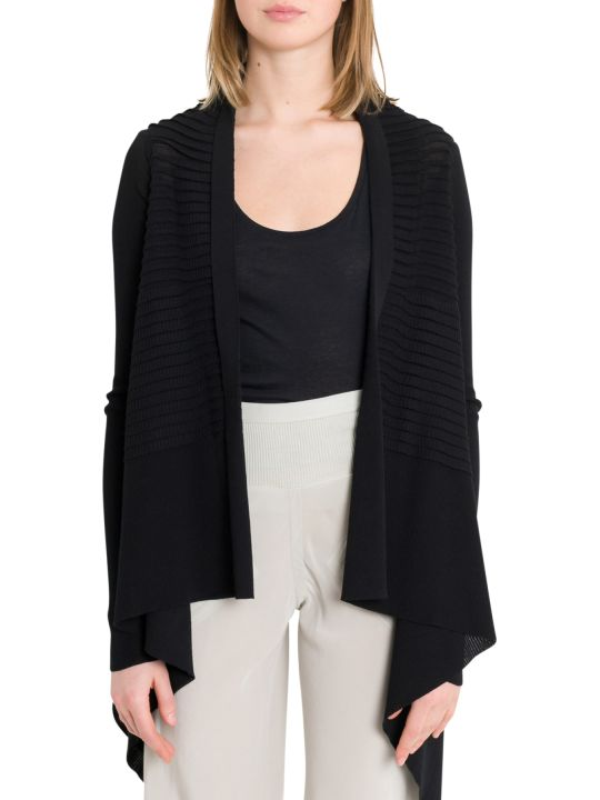 Rick Owens Cardigan With Embossed Stripes