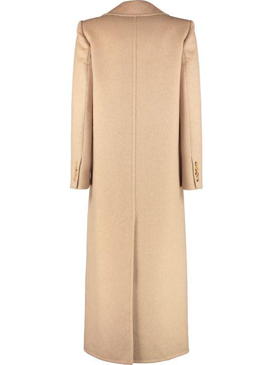 Max Mara Sassari Camel Wool And Cashmere Long Coat