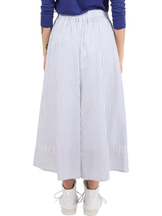 Zucca Striped Trousers With Embroidery