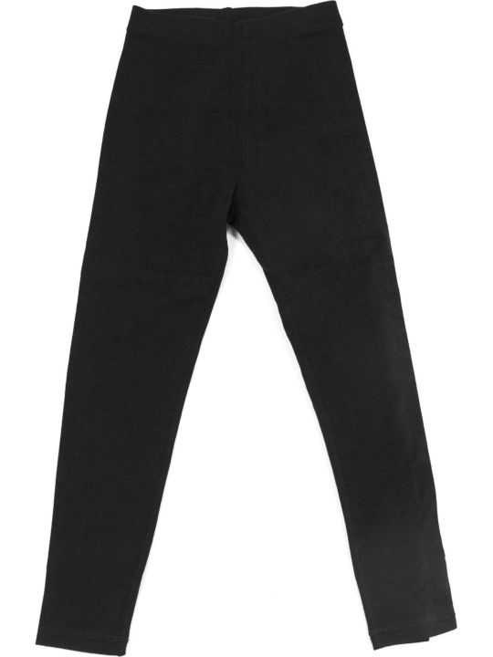 Burberry Black Stretch Cotton Leggings