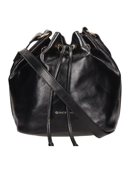 L'Autre Chose Black Leather Bucket Bag