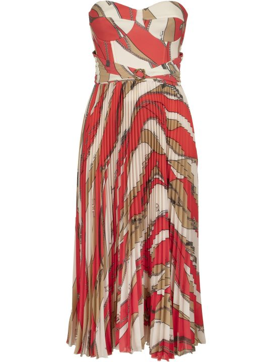 Elisabetta Franchi Celyn B. Calf-length Dress With Pleated Skirt