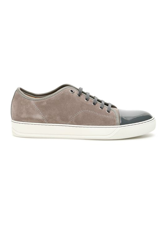 Lanvin Suede And Patent Sneakers