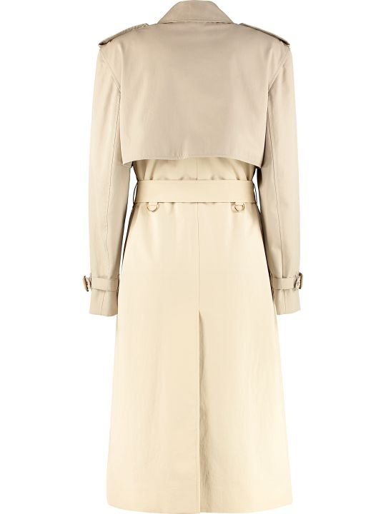 Burberry Cotton Gabardine Long Trench Coat