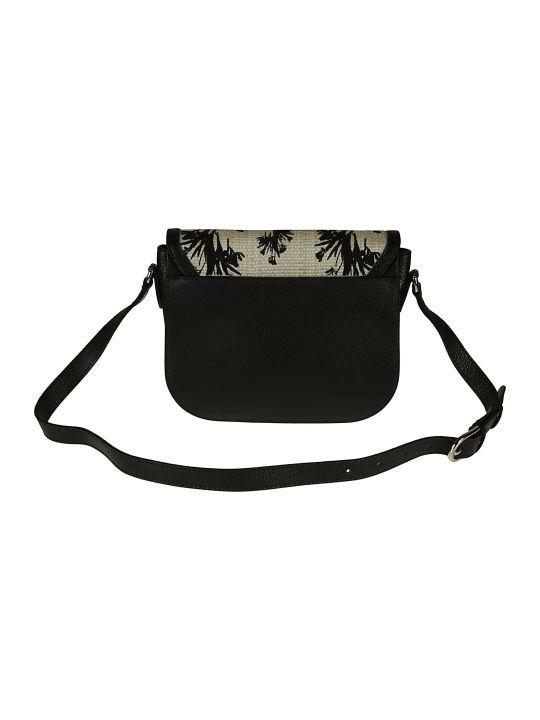 Furla Woven Flap Shoulder Bag