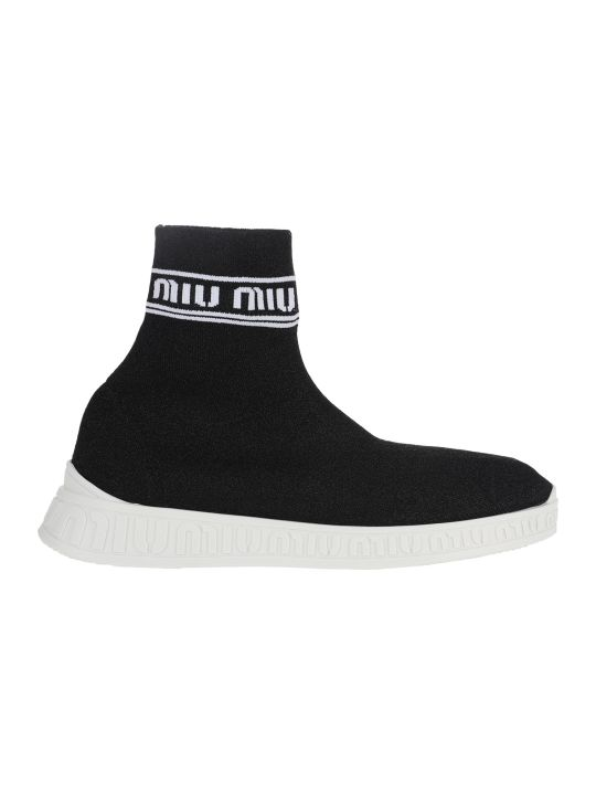 Miu Miu Miu Run Knit High Top Sneakers