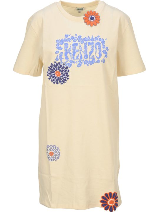 Kenzo 'flower' T-shirt Dress