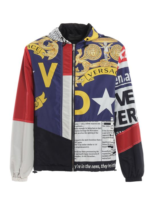 Versace News Print Windbreaker