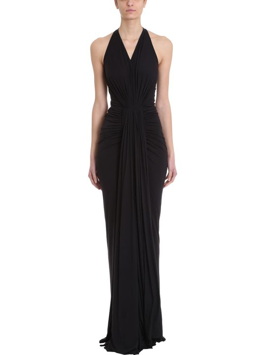 Rick Owens Lilies Gown Draped Jersey Dress