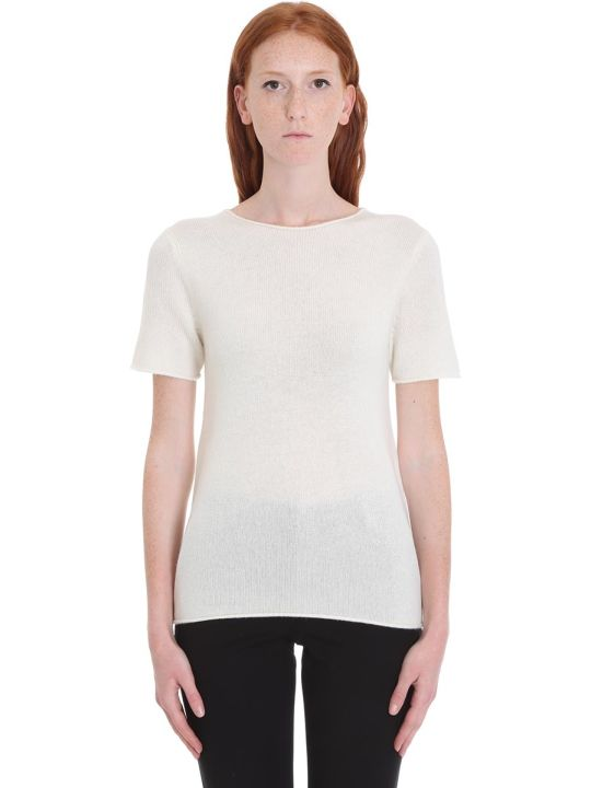 Theory Knitwear In White Cashmere