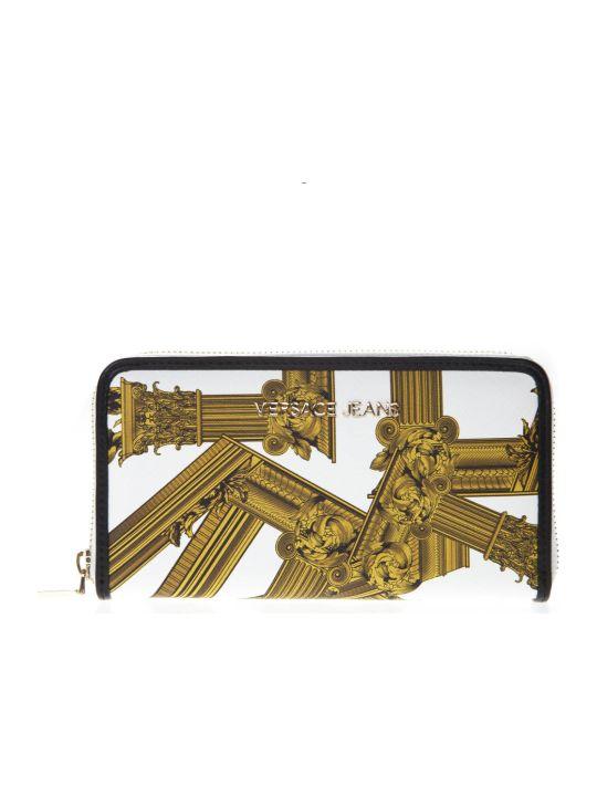 Versace Zip Around Printed Wallet