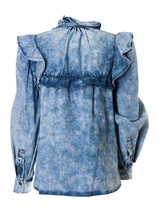 Isabel Marant Ruffle Detail Denim Blouse