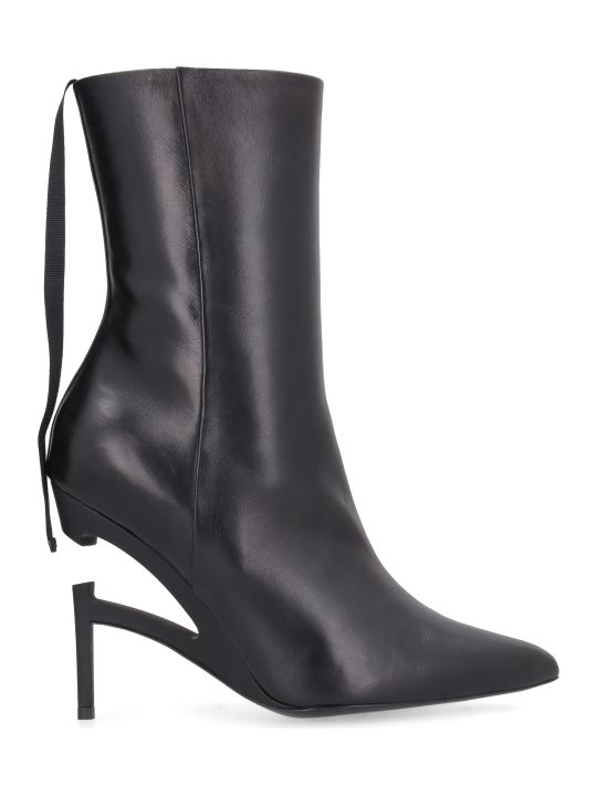 Ben Taverniti Unravel Project Leather Pointy-toe Ankle-boots