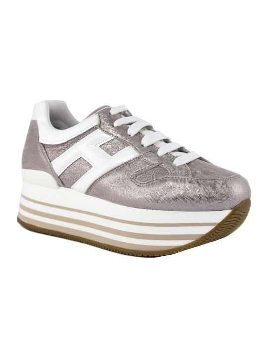 Hogan Maxi H222 Sneakers In Metallic