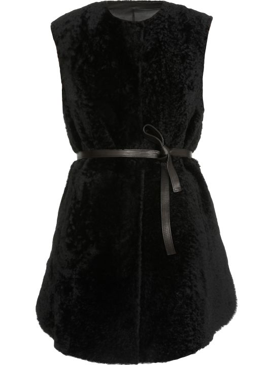 DROMe Reversible Leather Husky Waistcoat