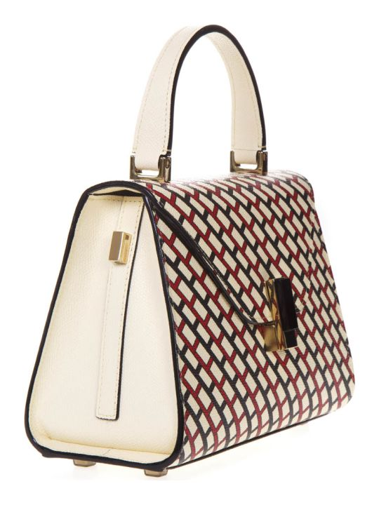 Valextra Iside Graphic Leather Print Bag