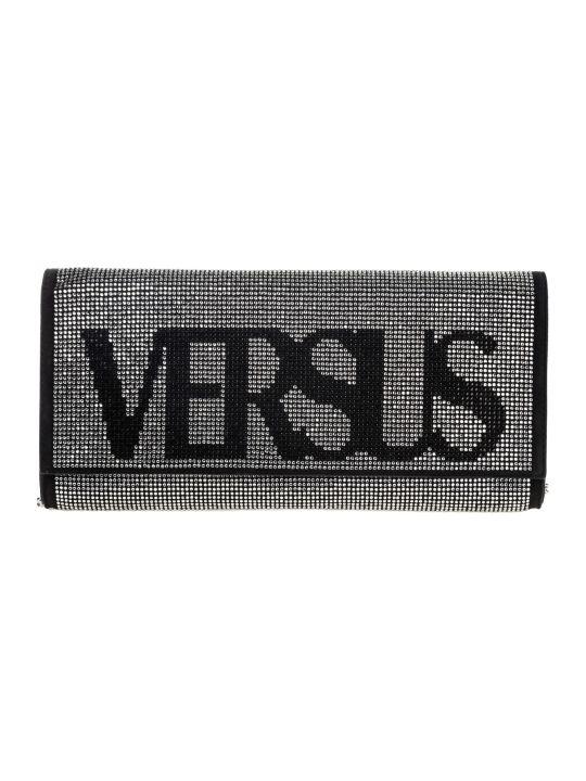 Versus Versace  Leather Clutch With Shoulder Strap Handbag Bag Purse Vintage Logo