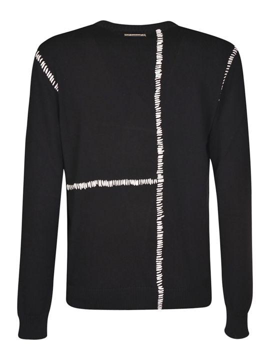 Les Hommes Contrast Stitched Round Neck Sweatshirt