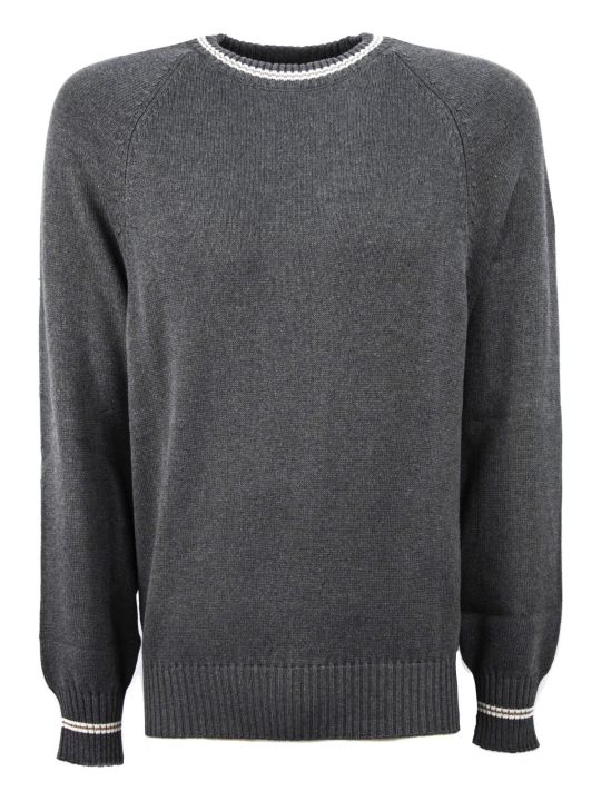 Brunello Cucinelli Grey Cotton Sweaters
