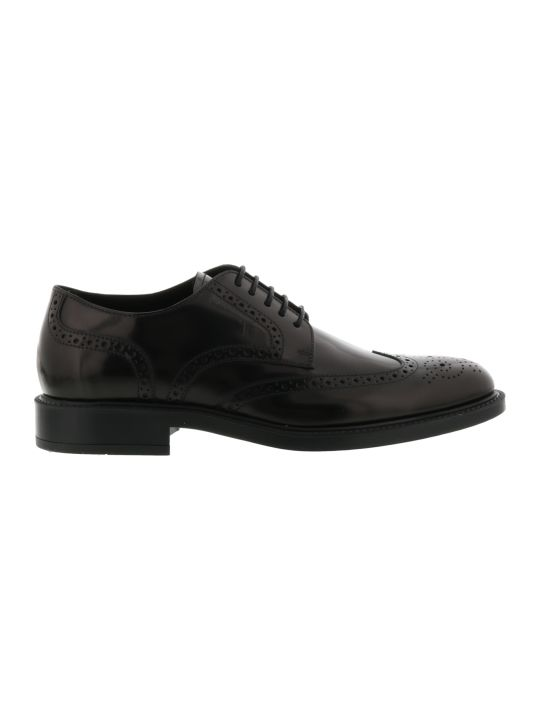 Tod's Derby Bucature Laced Up Shoes
