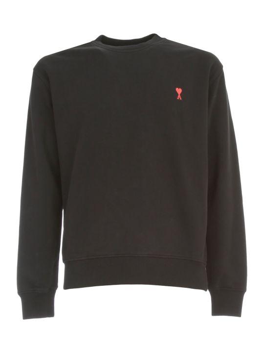 Ami Alexandre Mattiussi Cotton Sweatshirt Crew Neck W/logo Patch