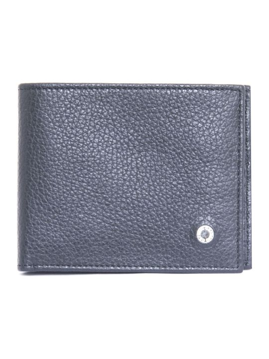 Orciani Black Micron Leather Wallet