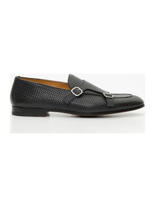 Doucal's Intertwined Leather Loafer With Double Buckle