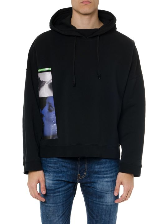 Dsquared2 Black Cotton Hoodie & Print Sweatshirt