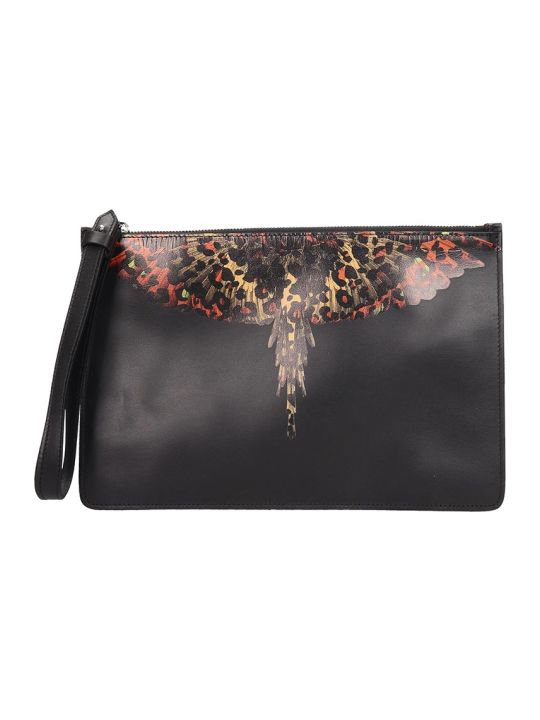 Marcelo Burlon Clutch In Black Leather
