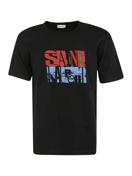 Saint Laurent Abstract Logo Print T-shirt
