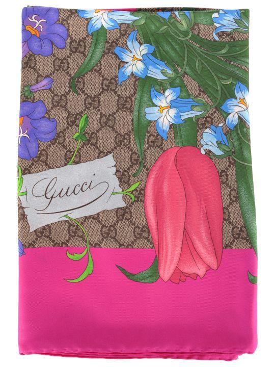 Gucci Foulard Gg Fiori 140x 140