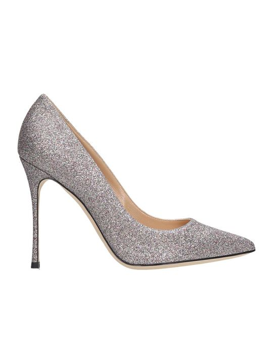 Sergio Rossi Godiva 105 Pumps In Multicolor Glitter