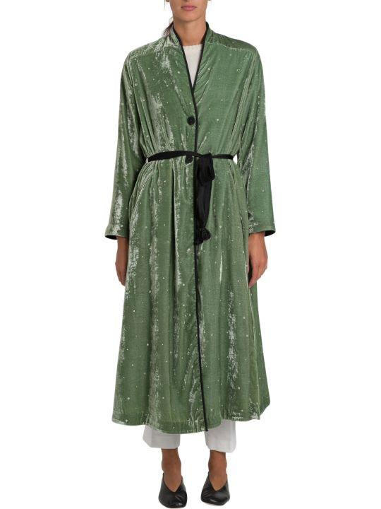 Forte_Forte Velvet Duster Coat With Strass Embroidery Allover