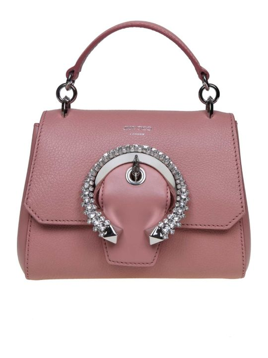 Jimmy Choo Madeline Handle Handle / S Leather Handbag Color Blush