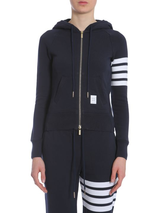 Thom Browne Hooded Zip-up Sweatshirt