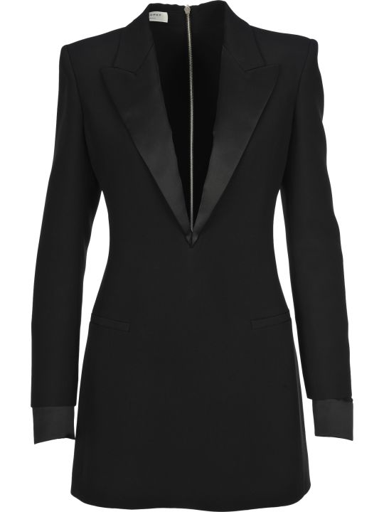 Philosophy di Lorenzo Serafini Philosophy Plunge Neck Tuxedo Dress