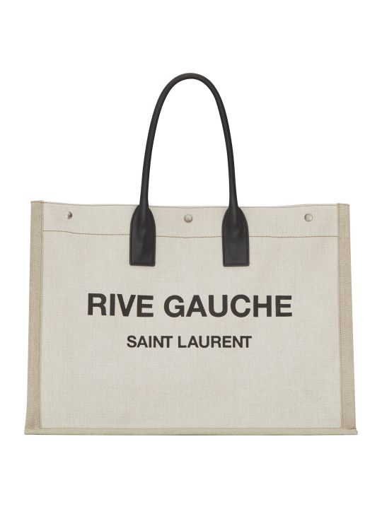 Saint Laurent Noe Linen Shopping Bag