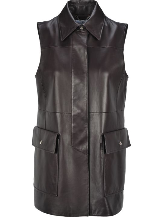 Salvatore Ferragamo Leather Vest