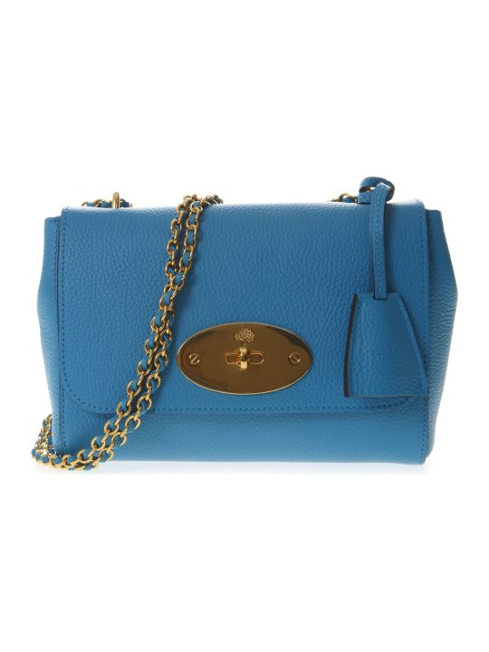 Mulberry Lily Sky Leather Shoulder Bag