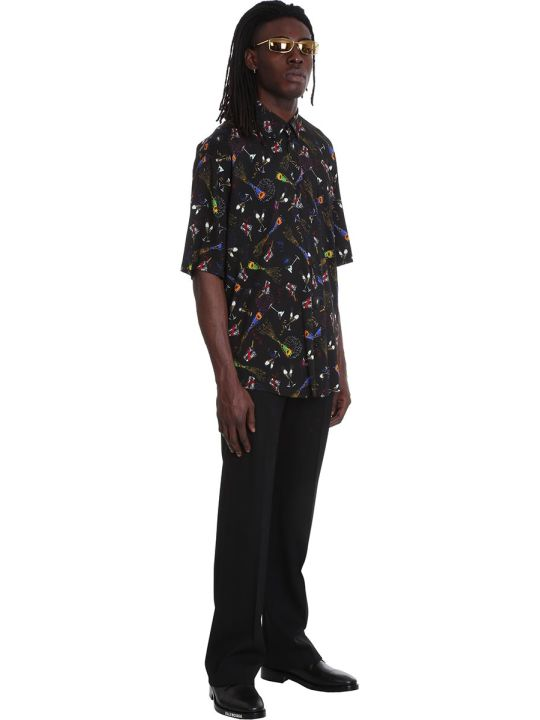 Balenciaga Shirt In Black Viscose