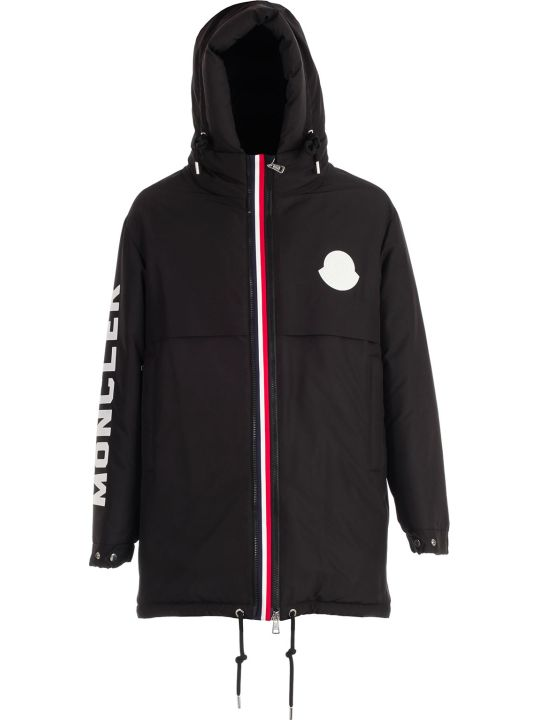 Moncler Charnier Padded Jacket W/hood And Written On Sleeve