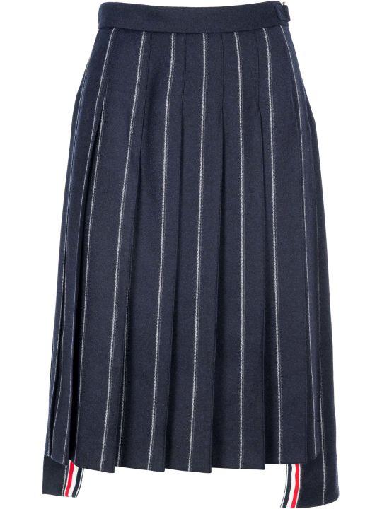 Thom Browne Shadow Stripe Flannel Skirt