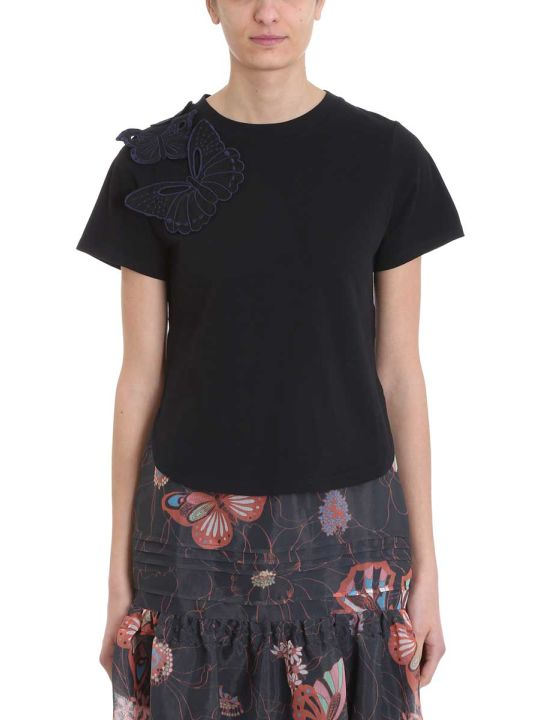 See by Chloé Butterfly Embroidered T-shirt