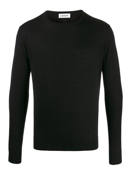Lanvin Knitwear In Black Wool