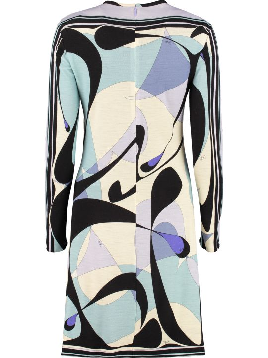 Emilio Pucci Printed Virgin Wool Dress