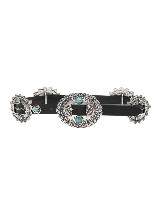 Alberta Ferretti Turquoise Medallion Belt