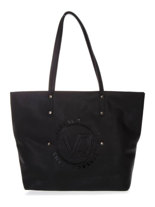 Versace Black Tote Faux Leather Bag